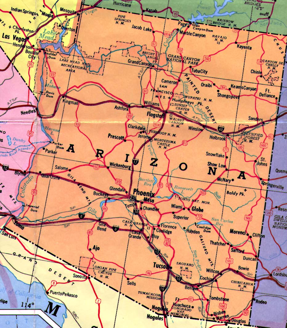State Of Arizona Map  Wwwgalleryhip  The Hippest Pics