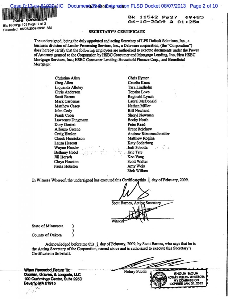 D.F. sent LPS List of Signers